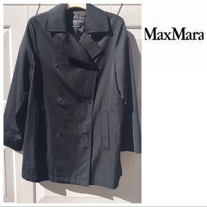 Weekend MAXMARA Black car Coat 6 swing trench